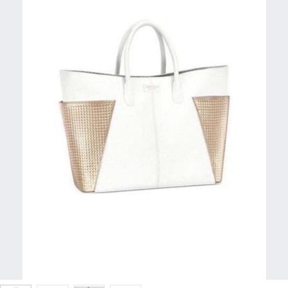 76c915d8ac Jimmy Choo Handbags - Jimmy Choo Perfume large white shopper tote bag